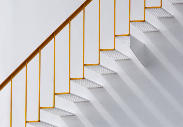 Minimalistic Photograph - Just Steps by Jacqueline Hammer