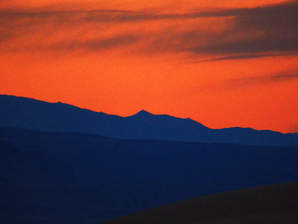 Death Valley Np Photograph - Just Sunset  by Marcia Socolik
