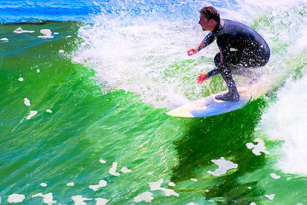 Photograph - Just Surf - Santa Cruz California Surfing by Mark E Tisdale