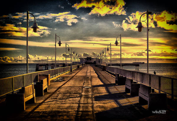 Just The Pier In Long Beach Art Print