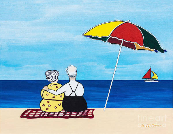 Wall Art - Painting - Just The Two Of Us by Barbara McMahon