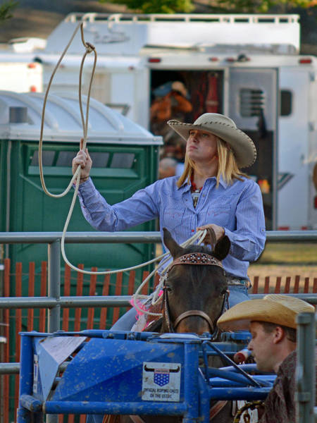 Prca Wall Art - Photograph - Just Warming Up by Gary Keesler