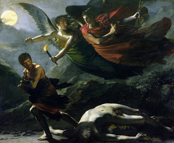 Flaming Sword Painting - Justice And Divine Vengeance Pursuing Crime by Pierre-Paul Prud'hon