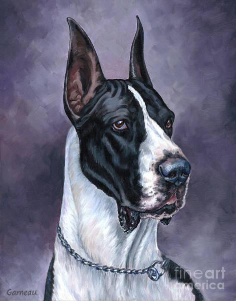 Black Great Dane Painting - Justice by Catherine Garneau