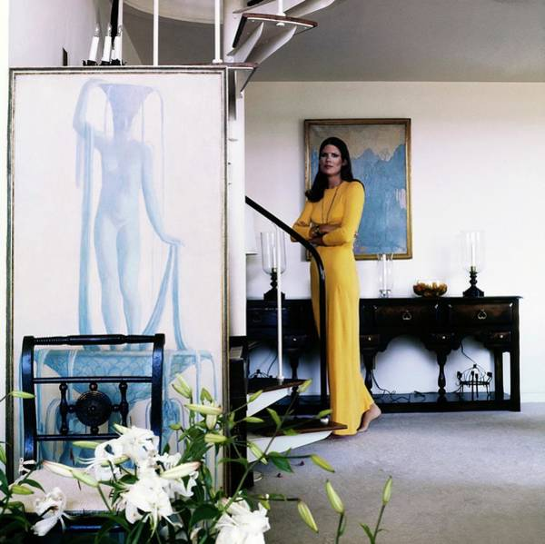 Plant Photograph - Justine Cushing At Home by Horst P. Horst