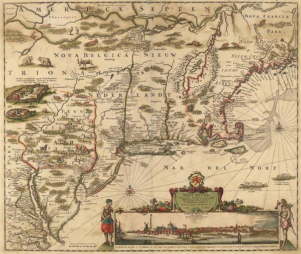 Wall Art - Drawing - Justus Danckerts Dutch, 1635 - 1701, Americae by Quint Lox
