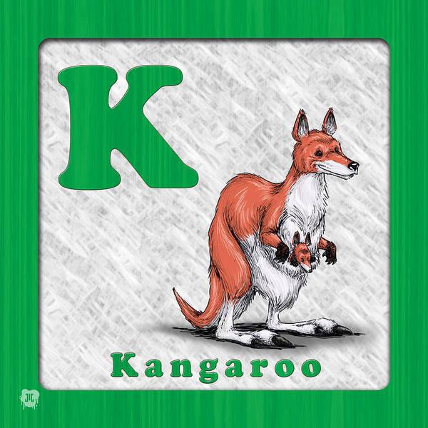 Kangaroo Drawing - K Fo Kangaroo by Jason Meents