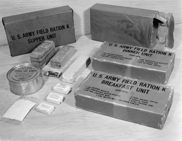 Tin Box Photograph - K Rations, 1943 by Granger