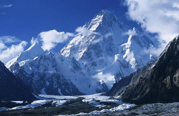 Setting Photograph - K2 8611m, The Second Highest Mountain by John Mock