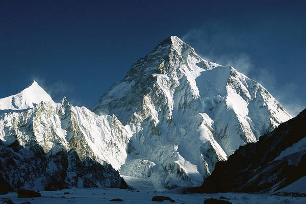 Photograph - K2 At Dawn 8611 Meters Seen From Camp by Colin Monteath