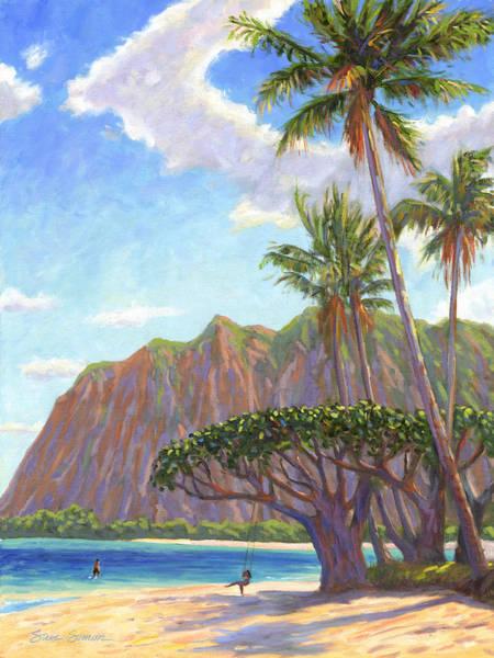 Wall Art - Painting - Kaaawa Beach - Oahu by Steve Simon