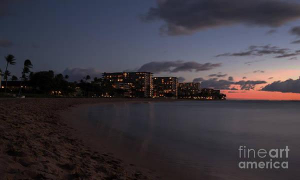 Photograph - Ka'anapali Beach At Night Maui Hawaii by Edward Fielding