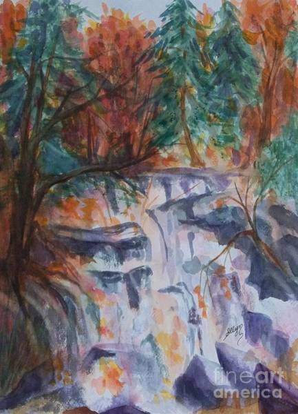 Upstate New York Painting - Kaaterskill Falls In The Catskills by Ellen Levinson
