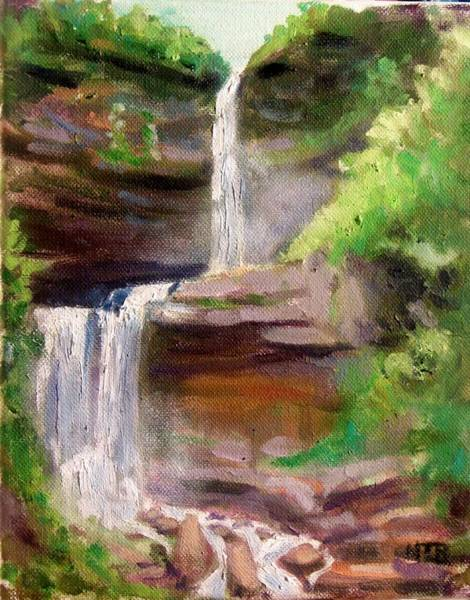 Painting - Kaaterskill Falls by Nicolas Bouteneff