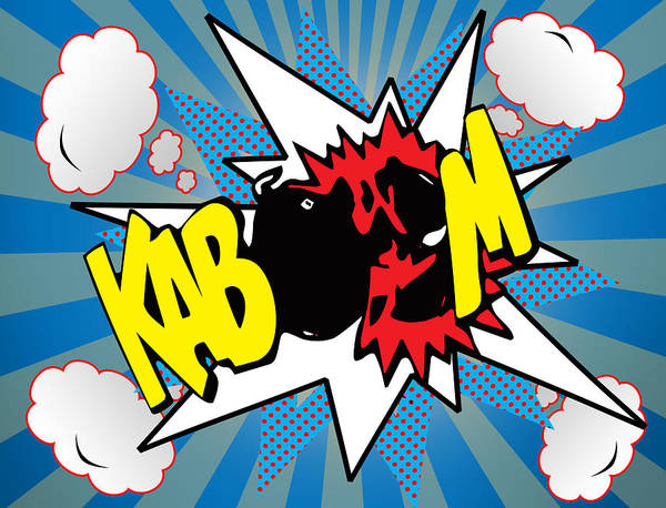 Designs Digital Art - Kaboom by Mark Ashkenazi