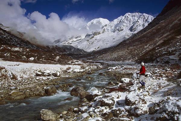 Photograph - Kabru Peak Winter Himalaya India by Colin Monteath
