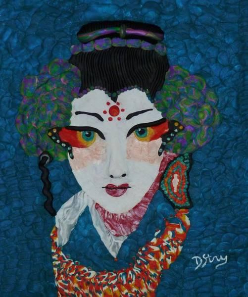 Mixed Media - Kabuki by Deborah Stanley