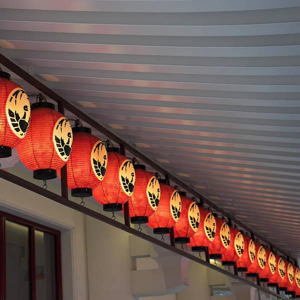 Photograph - Kabuki Theater Tokyo - Phoenix Lanterns by For Ninety One Days