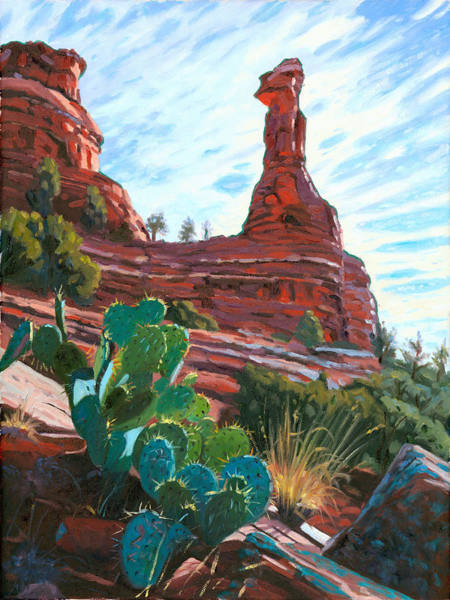 Sedona Painting - Kachina Woman by Steve Simon