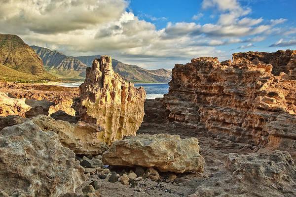 Kaena Photograph - Ka'ena Point Rocky Coast by Marcia Colelli