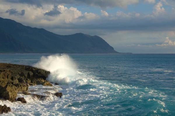 Kaena Photograph - Kaena Point State Park Crashing Wave - Oahu Hawaii by Brian Harig