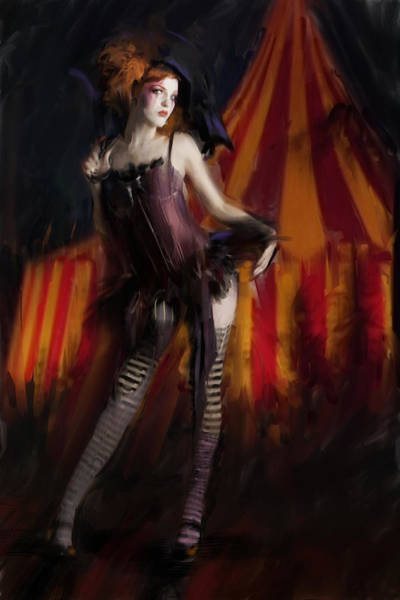 Circus Painting - Kaia by H James Hoff