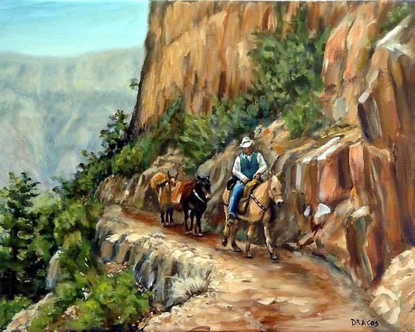 Kaibab Trail Grand Canyon Mule Runner Art Print