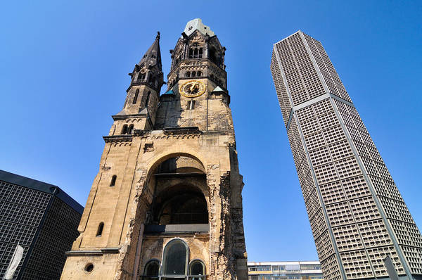 Photograph - Kaiser Wilhelm Memorial Church Berlin Germany by Matthias Hauser