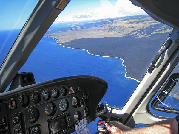 Copter Photograph - Kalapana Coast - Big Island by Daniel Hagerman