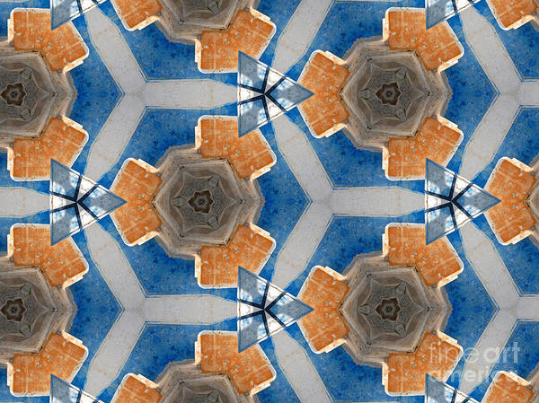 Photograph - Kaleidoscope In Blue And Orange by Agnieszka Kubica