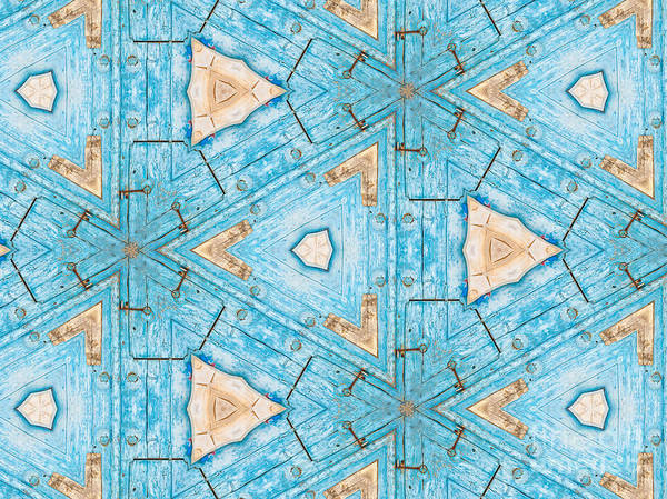 Photograph - Kaleidoscope In Turquoise by Agnieszka Kubica