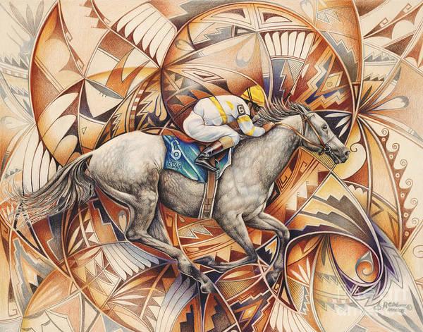 Kaleidoscope Wall Art - Painting - Kaleidoscope Rider by Ricardo Chavez-Mendez
