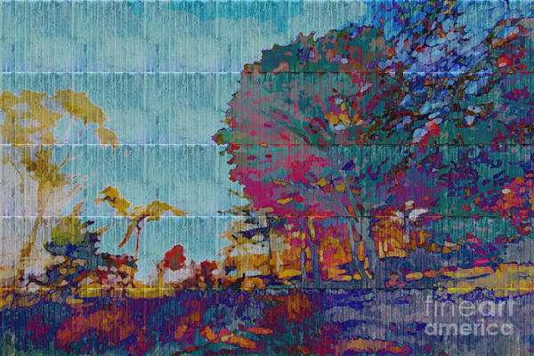 Digital Art - Kaleidoscopic Autumn Scene IIi by Beverly Claire Kaiya