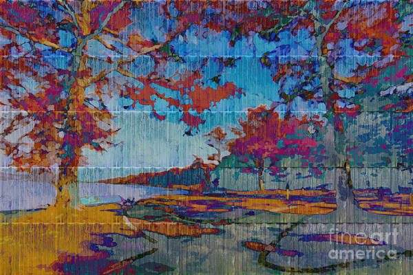 Digital Art - Kaleidoscopic Autumn Scene Iv by Beverly Claire Kaiya