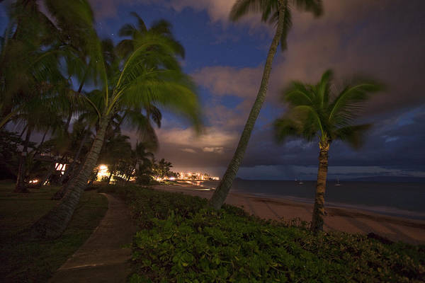 Kihei Photograph - Kamaole After Dark  by James Roemmling