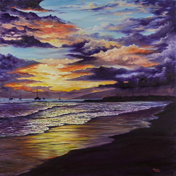 Painting - Kamehameha Iki Park Sunset by Darice Machel McGuire