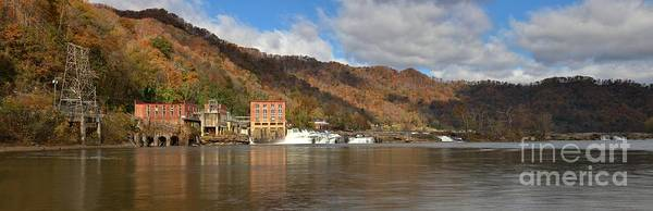 Photograph - Kanawha Falls Panoramic Landscape by Adam Jewell