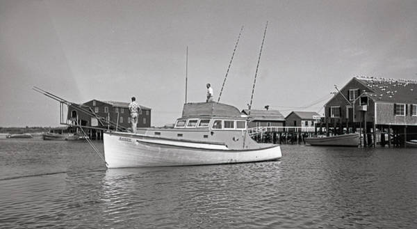 Photograph - Kandy Of Barnstable Harbor 1950's by Charles Harden