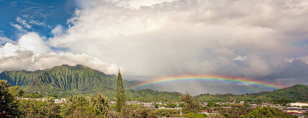 Photograph - Kaneohe Rainbow Panorama by Dan McManus