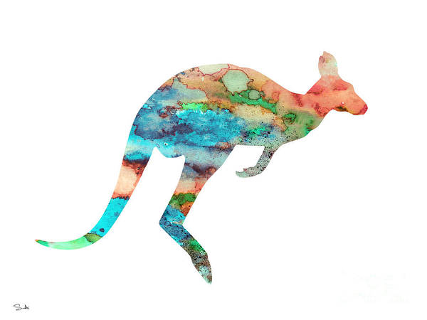 Kangaroo Wall Art - Painting - Kangaroo 3 by Watercolor Girl