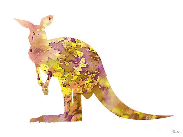 Kangaroo Wall Art - Painting - Kangaroo by Watercolor Girl