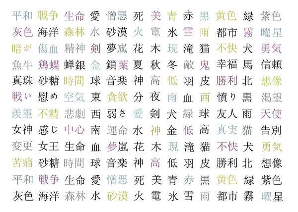 Kanji Digital Art - Kanji Symbols by Gina Dsgn