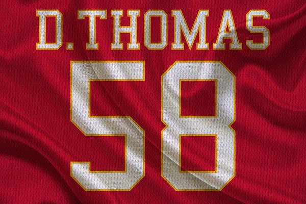 Chiefs Photograph - Kansas City Chiefs Derrick Thomas by Joe Hamilton