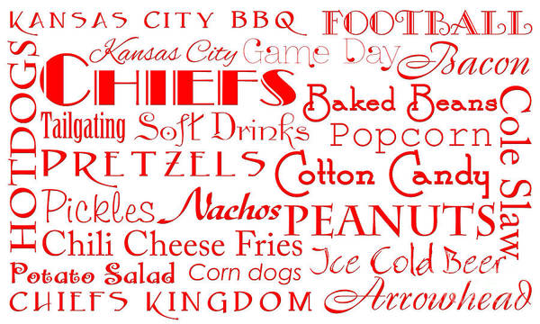 Digital Art - Kansas City Chiefs Game Day Food 1 by Andee Design