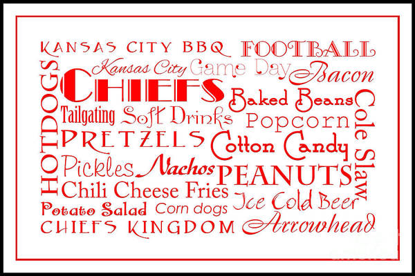 Digital Art - Kansas City Chiefs Game Day Food 3 by Andee Design