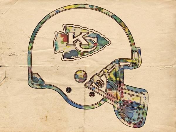 Painting - Kansas City Chiefs Helmet Vintage by Florian Rodarte