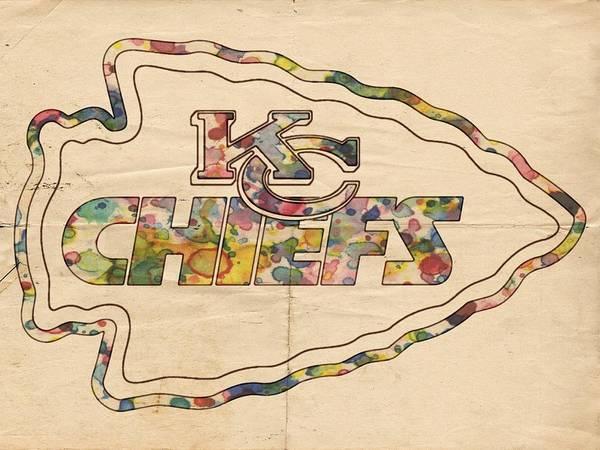 Painting - Kansas City Chiefs Logo Art by Florian Rodarte