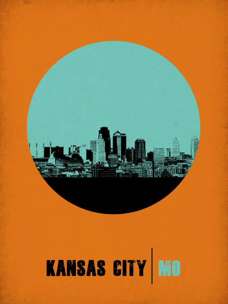 Wall Art - Digital Art - Kansas City Circle Poster 1 by Naxart Studio