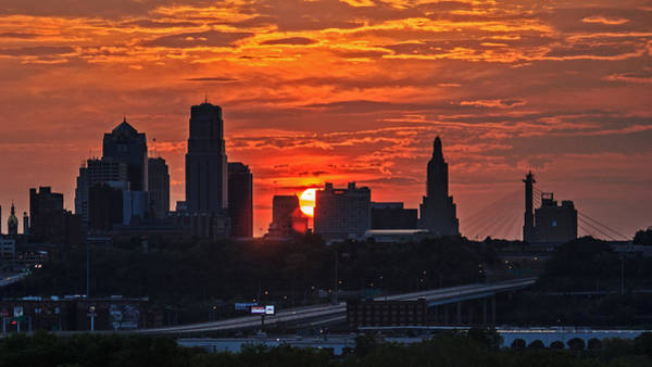 Wall Art - Photograph - Kansas City Sunrise by Kevin Anderson
