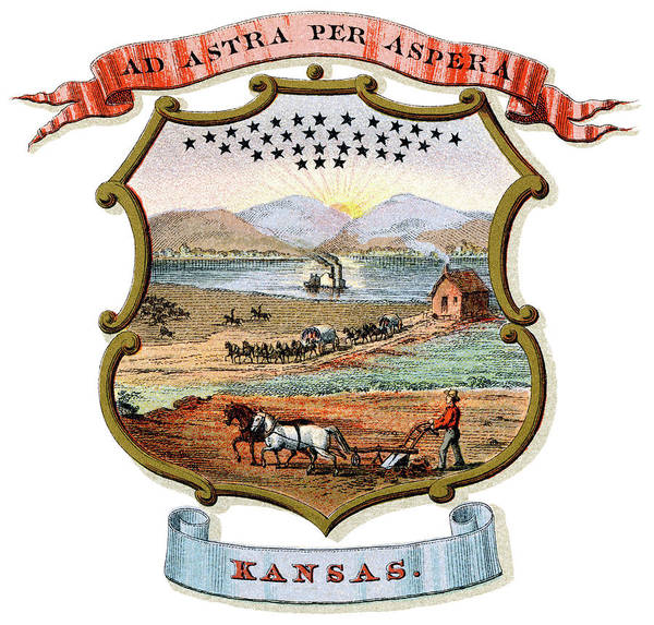 Wall Art - Painting - Kansas Coat Of Arms by Granger